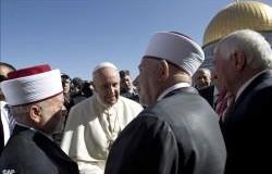 البابا فرنسيس يلتقي المفتي العام للقدس والديار الفلسطينية
