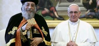رسالة الحبر الأعظم إلى البابا تواضروس الثاني لمناسبة مرور سنة على زيارته للفاتيكان