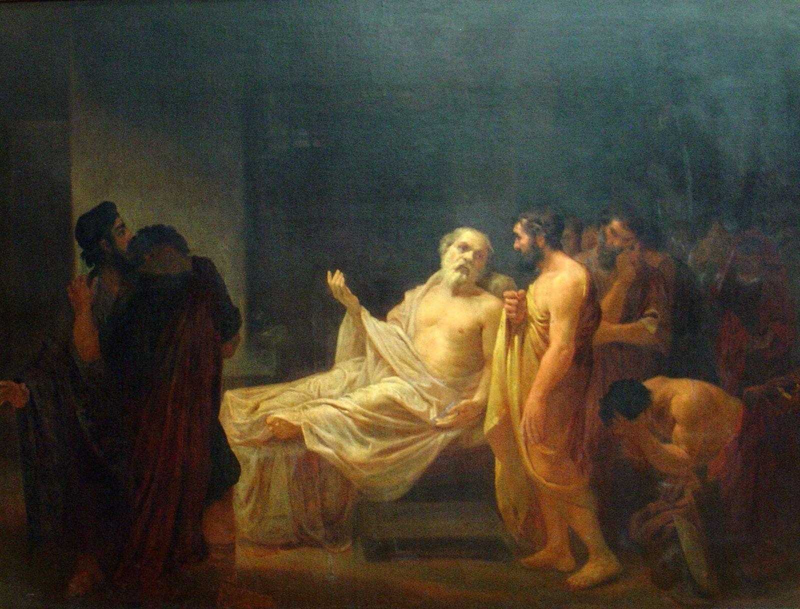 José Maria de Medeiros - A Morte de Sócrates - Museu D. João VI